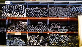Pipes and tubes stand Royalty Free Stock Image