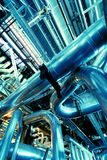 Pipes, tubes, steam turbine stock photo