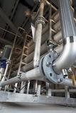 Pipes, tubes, valves at a power plant Stock Image