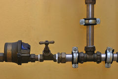 Pipes And Valve Royalty Free Stock Photos