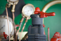 Pipes and valves. #1. Valve, pipes and pressure gauges in a background. #1 royalty free stock photos