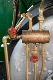 Pipes and valves. #2. Pipes and red valves. #2 royalty free stock photo