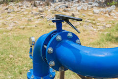 Pipes and Valves. The big metallic Pipes and Valves royalty free stock photography