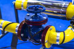 Pipes and valves Stock Photo