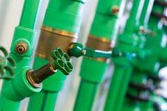 Pipes and valves Royalty Free Stock Photos