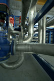 Pipes valves power plant Royalty Free Stock Photography