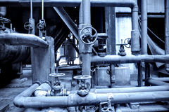 Pipes and valves Royalty Free Stock Photo