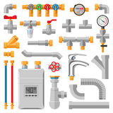 Pipes vector icons . Stock Image