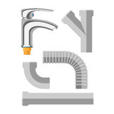 Pipes vector icons . Royalty Free Stock Image