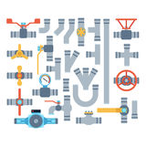 Pipes vector icons . Stock Images