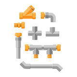 Pipes vector icons isolated. Stock Images