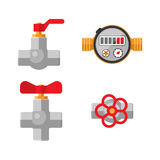 Pipes vector icons isolated. Royalty Free Stock Photo
