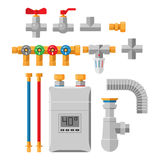 Pipes vector icons isolated. Stock Photos