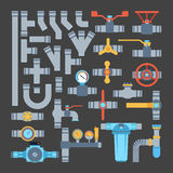 Pipes vector icons isolated. Royalty Free Stock Photography