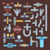 Pipes vector icons isolated. Royalty Free Stock Photos