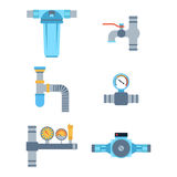 Pipes vector icons isolated. Stock Photography