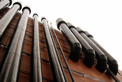 Pipes of ventilation royalty free stock photo