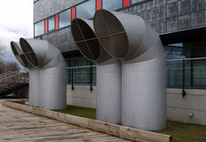 Pipes of ventilation Stock Photo