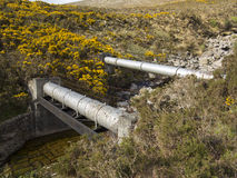 The pipes. Water pipes carrying watter rom spelga dam to belfast city Stock Photo