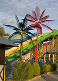 Pipes in the water park Stock Photography