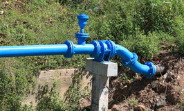Pipes water supply Stock Image