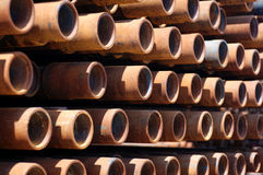 Pipes for wells  2005 june. Pipes for wells oil 2005 june Stock Image