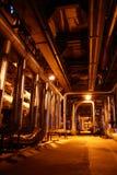 Pipess binnen energieinstallatie Royalty-vrije Stock Fotografie