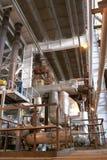 Pipess dentro da planta de energia Fotografia de Stock Royalty Free