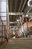 Pipess dentro de la central de energía Imagen de archivo libre de regalías