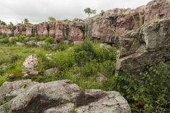Pipestone Cliff Scenic Photo stock