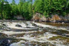 Pipestone falls, bwcaw, minnesota Stock Image