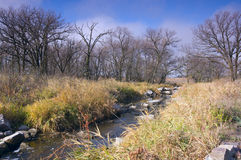 Pipestone National Monument and Creek Stock Photos