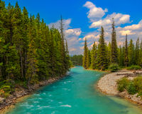 Pipestone River. In Lake Louise, Banff National Park, Alberta, Canada Stock Photography