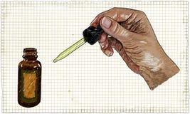 Pipeta com gotas médicas ilustração do vetor
