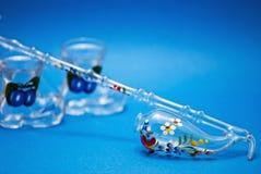 Pipeta decorativa com vidro da gole foto de stock royalty free