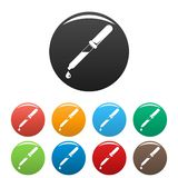 Pipette blood icons set color stock illustration