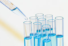 Pipette and cuvette Royalty Free Stock Images