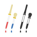 Pipette web icon royalty free illustration