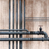 Pipework background Stock Image