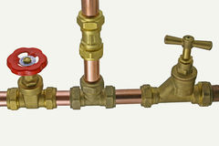 Pipework and fittings Royalty Free Stock Photos