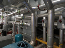 Pipework and Plant Royalty Free Stock Photos