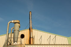Pipework and stack Royalty Free Stock Image