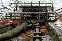 Pipework. Timber Bridge over the Pipework royalty free stock images