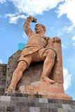 Pipila Statue. Image of the the statue of El Pipila, a Mexican Independence Hero, at Guanajuato City, Mexico Royalty Free Stock Image