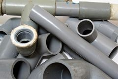 Piping Joints. An assortment of PVC piping joints stock photos