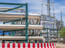 Piping with structure in refinery plant Stock Images
