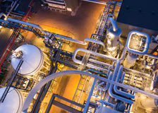 Piping system from above Royalty Free Stock Photo