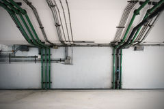 Piping systems, industrial equipment, interior. Piping systems, industrial equipment interior image stock photo