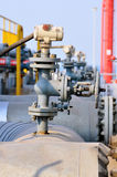 Piping and valves in Petrochemical industry Stock Image