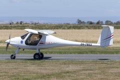Pipistrel Virus SW 100/NW ultralight aircraft 24-7953. Lethbridge, Australia - November 23, 2014: Pipistrel Virus SW 100/NW ultralight aircraft 24-7953 royalty free stock photos